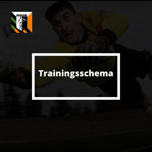 Trainingsschema per 10 mei a.s.