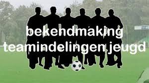 Voorlopige teamindelingen Jeugd - seizoen 2021-2022