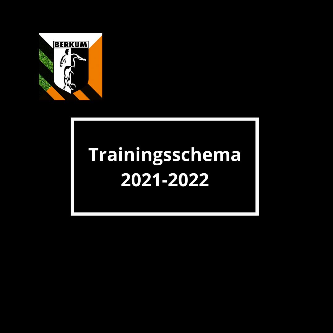 Trainingsschema VV Berkum seizoen 2021-2022